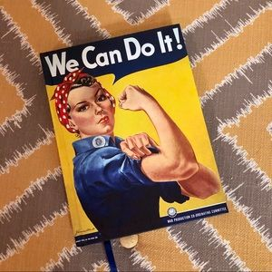 Rosie the Riveter lined hardcover journal NEW